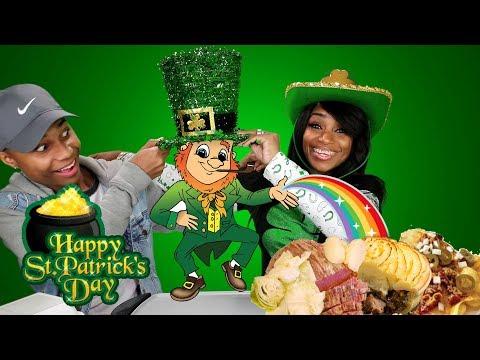 Corn Beef and Cabbage and Shepard's Pie Irish Mukbang w/ It's Darius