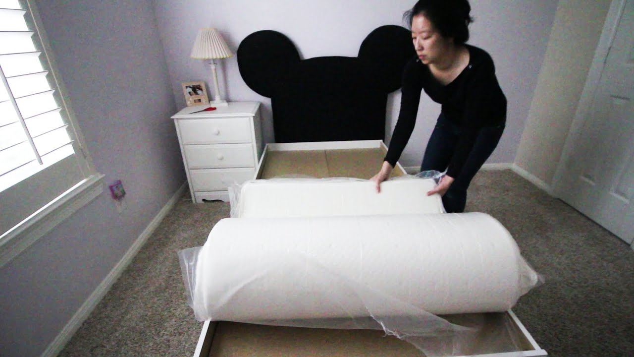 lucid 10 inch plush memory foam mattress unboxing and review - youtube