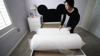 LUCID 10 Inch Plush Memory Foam Mattress Unboxing and Review(, 2015-04-22T08:37:57.000Z)