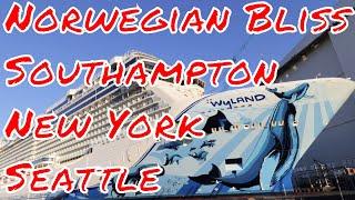 Norwegian Sun Departs Seattle after Drydock NCL Bliss off to Southampton thumbnail