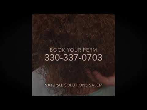 Ammonia free Holistic Perming Solutions at Natural Solutions Salon in Salem Ohio