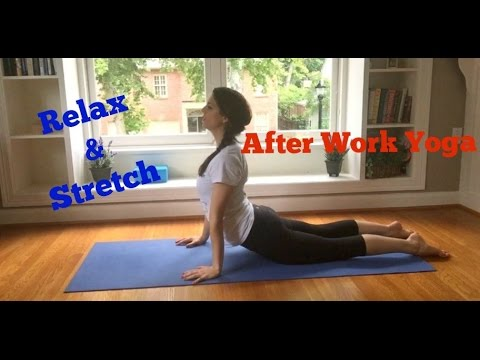 easy after work yoga  relax  stretch  youtube