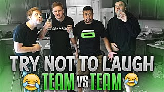 Team vs Team - Try Not To LAUGH Challenge!