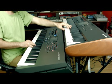 korg kronos 2 vs yamaha montage piano youtube. Black Bedroom Furniture Sets. Home Design Ideas