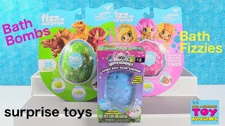 Hatchimals Bath Bombs Fizzies Fizz n Surprise Dino & Mermaid Fun | PSToyReviews