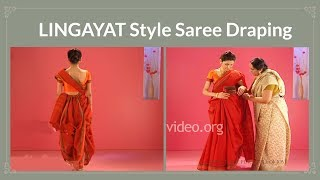 How to wear a cotton saree in Lingayat style