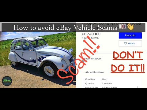 Ebay Vehicle Scams How To Avoid Being Scammed When Buying A Vehicle On Ebay Youtube
