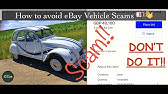 Beware Ebay Motors Scam Youtube