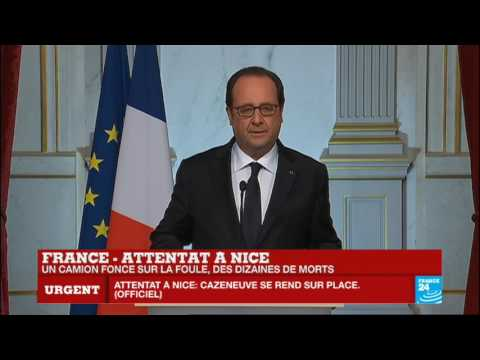 REPLAY - Intervention du président François Hollande après l'attentat terroriste à Nice