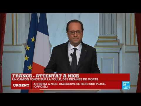 REPLAY - Intervention du président François Hollande après l'attentat terroriste à Nice