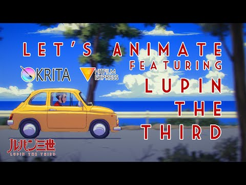Let's Animate - Krita: Lupin The Third
