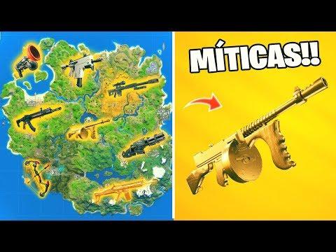 Todas las *UBICACIONES* de las ARMAS  MÍTICAS!! 🔥 Temporada 2 - Fortnite: battle royale