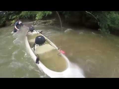 Etowah River Striper Fishing And Canoe  Flip