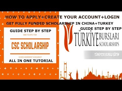 How to Create+Login+Get Scholarship+Agency Number For CSC + Türkiye Scholarships  All in One Guide