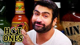 Kumail Nanjiani Sweats Intensely While Eating Spicy Wings | Hot Ones