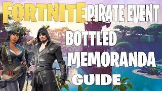 Fortnite Save The World -Événement Pirate ' Bottled Memoranda 'Mission 15