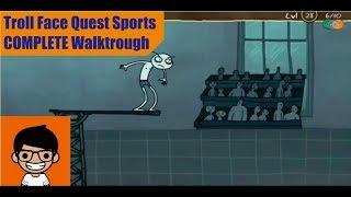 Troll Face Quest Sports COMPLETE Walkthrough
