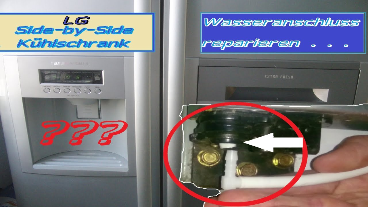 Side By Side Kühlschrank Ice Crusher : Lg side by side wasseranschluss reparieren youtube