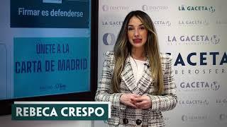 Firmar la 'Carta de Madrid' es defenderse