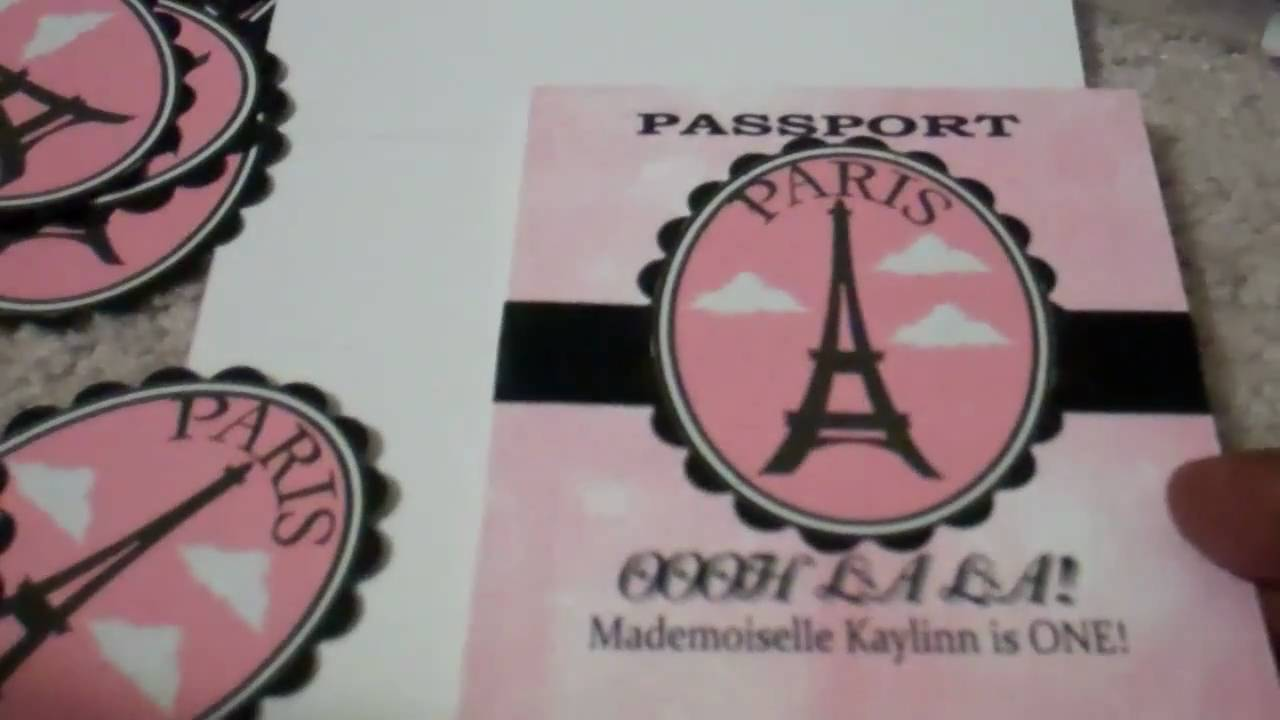 Passport Party Invitations - YouTube