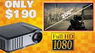 BEST 1080P PROJECTOR for ONLY $190! | iCODIS T700 | Review & Demo |
