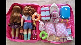 How to Travel With Your American Girl Doll - Overnight Vacation Stay!!
