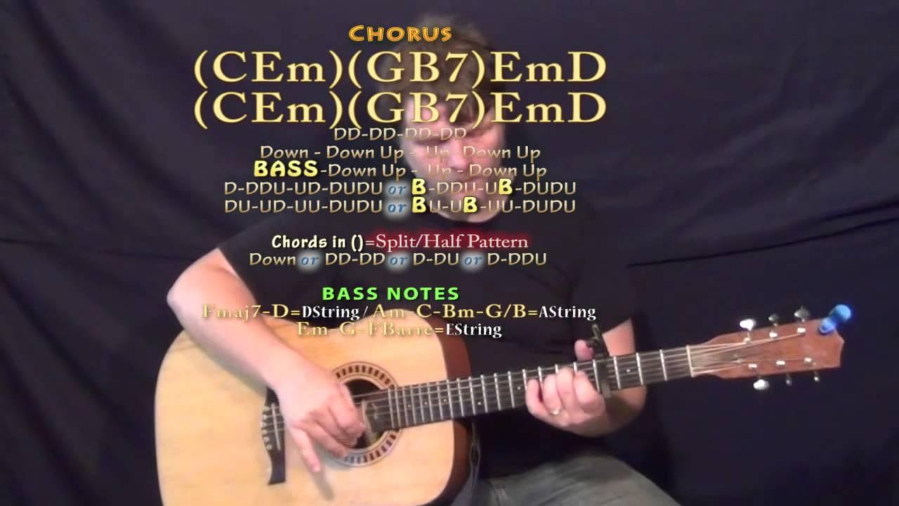 Brother needtobreathe Guitar Lesson Chord Chart   Capo 15th Fret