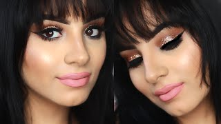 Glam Makeup Tutorial   Easy Glitter eyeshadow tutorial