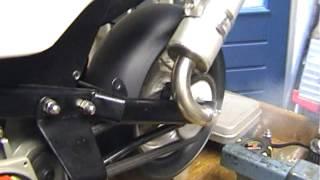Eerste start zelfbouw minibike