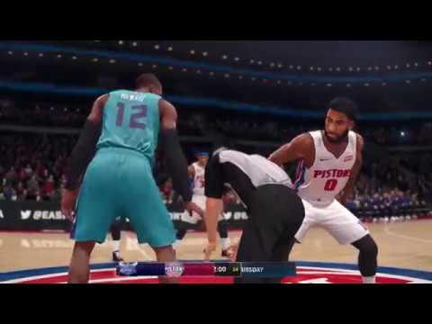 NBA Live 18 Opening Day Charlotte Hornets vs Detroit Pistons 2017 2018 Season