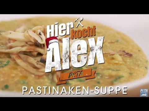 hier-kocht-alex:-pastinaken-/-süßkartoffelsuppe-mit-gebratenen-kräuterseitlingen