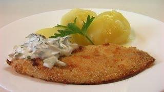 Филе белой рыбы запеченной в сухарях. Очень вкусно!