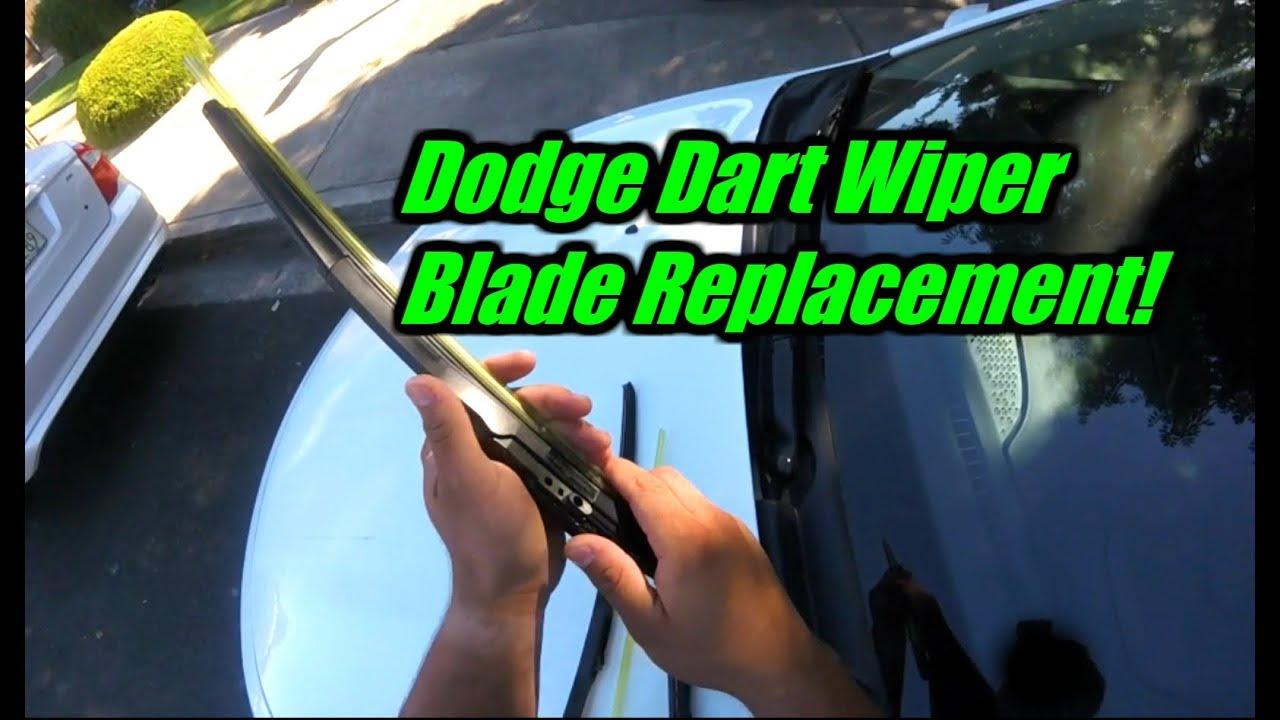 2013 Dodge Dart Wiper Blade Replacement Youtube