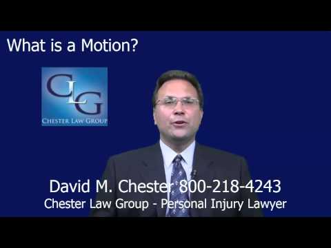 Ohio Personal Injury Lawyer What is a Motion in an Ohio Personal Injury Lawsuit