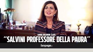 """Laura Boldrini: """"Salvini professore della paura, non sa come affrontare i problemi degli italiani"""""""