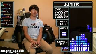 NES TETRIS - 1,255,100 (2,640 Points Off World Record!!) - 2/12/2019