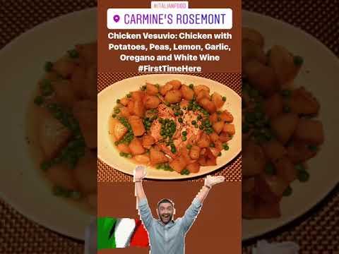Chicken Vesuvio From Carmines In Rosemont Il Youtube