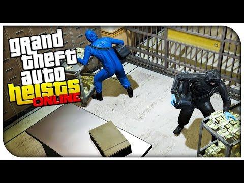 GTA 5 Heists Online Gameplay - THE PACIFIC STANDARD BANK HEIST! (Part 2/2) [GTA V Heists DLC]