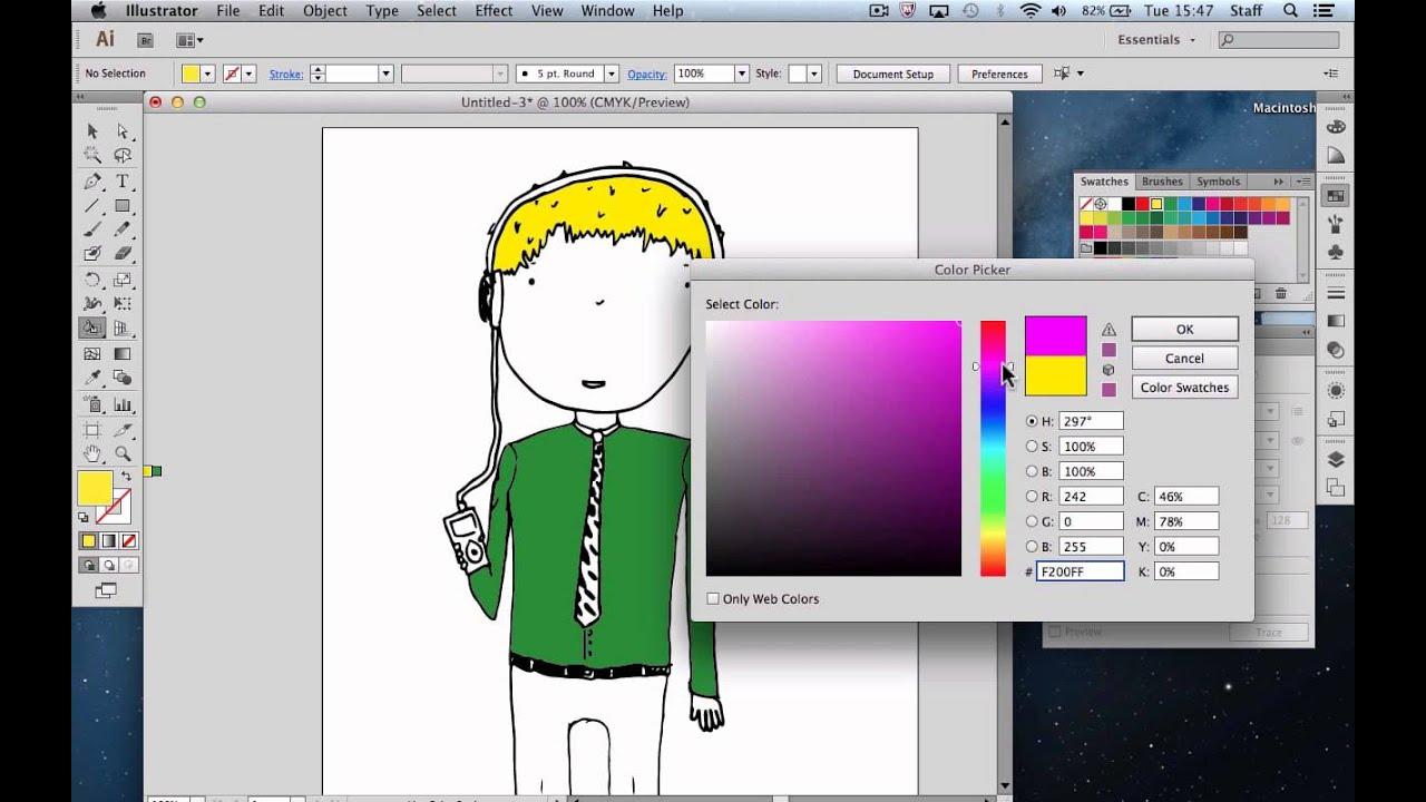 Line Art Converter Software : Converting line drawings in illustrator youtube