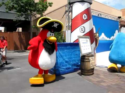 Club Penguin Characters Rockhopper and Blue Penguin Meet & Greet, Disney's Hollywood Studios