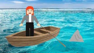 Playing roblox shark bite!