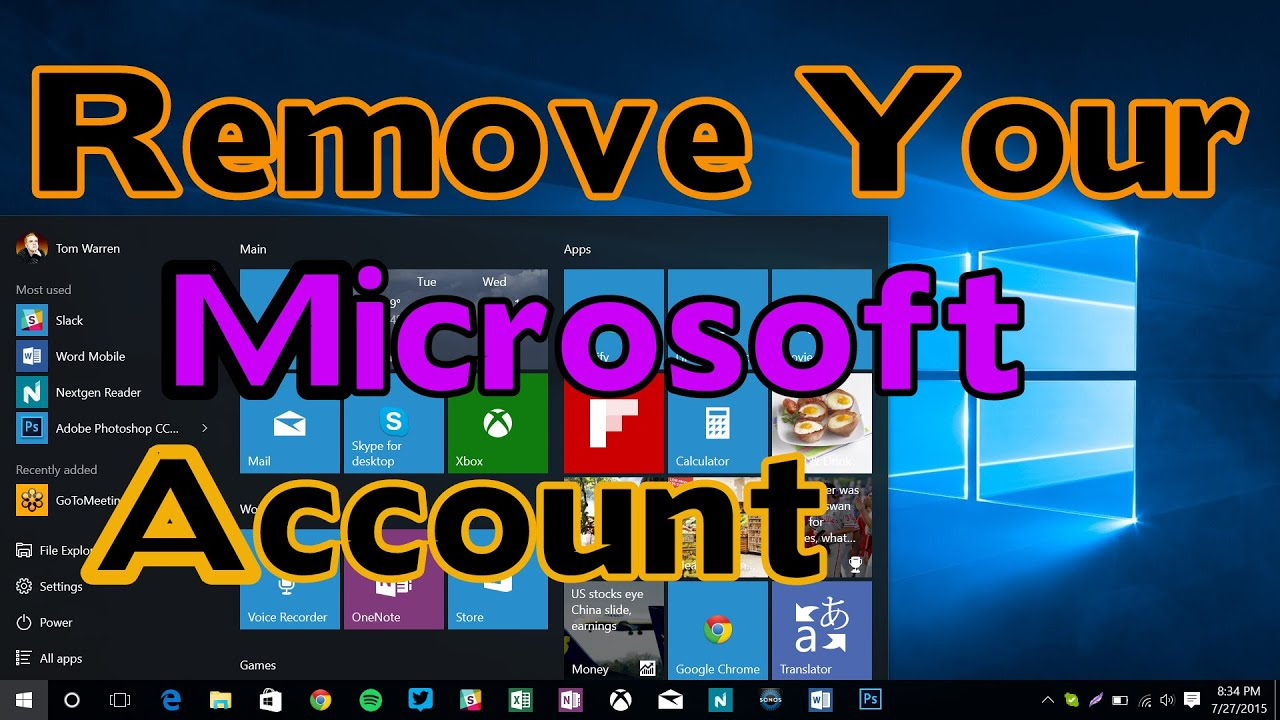 how to sign out of microsoft account