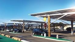 Ombrières de parking photovoltaïques 1030 kWc Auchan Mistral 7 Avignon