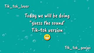 Hey guys lets guess the sound of tik-tok songs.. just for fun 😊 lover ❤️ genius 😁 tell me how many sounds you comment down be...
