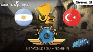 CS:GO World Championship 2016 + Trophy and Ending Ceremony - Argentina Vs Turkey [Game 3] (Final)