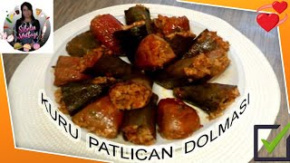 Kuru Patlıcan Ve Biber Dolması  Kıymalı Ve Nar Ekşili  Tarif  Sibelin  Mutfağı ile yemek tarifleri
