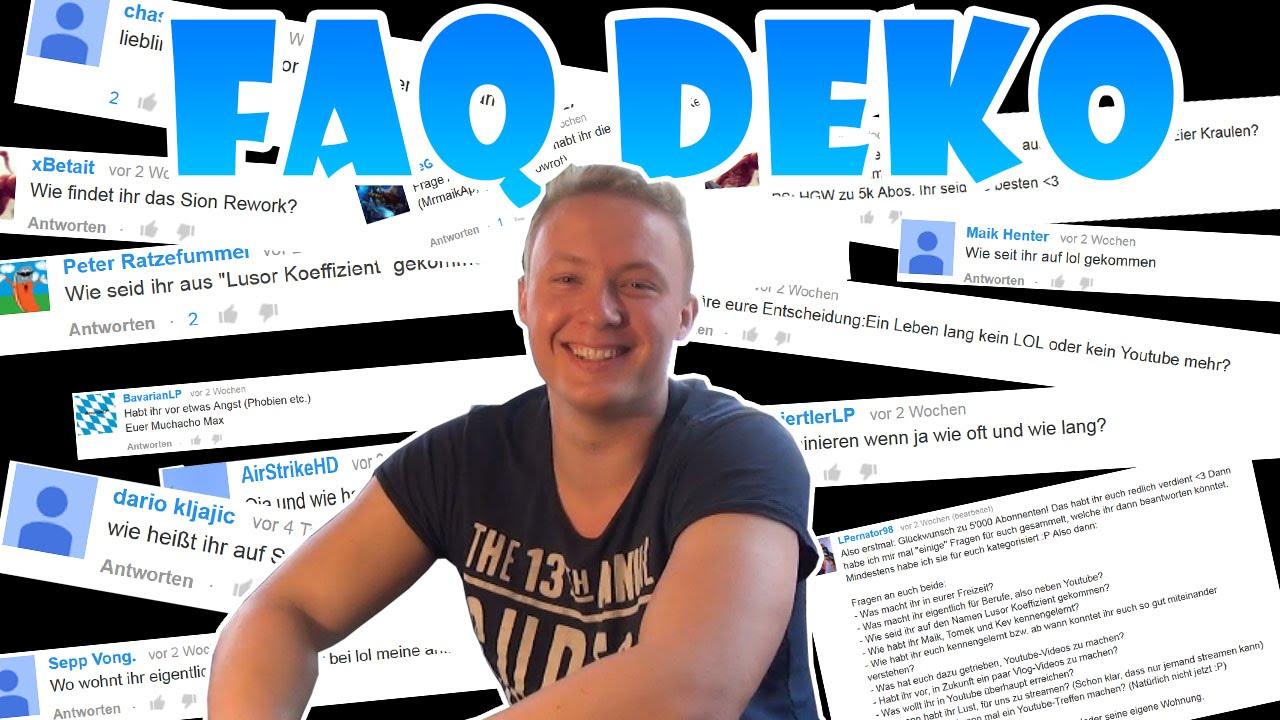 Lusor marbossa und deko  FAQ VIDEO - DEKO BEANTWORTET EURE FRAGEN - YouTube