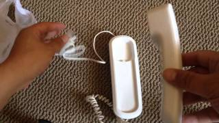 Unboxing my walmart Vtech CD1103 WH Trimstyle Telephone, White $5.98
