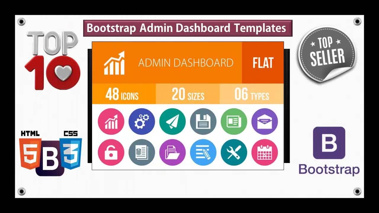 Top 10 Responsive Bootstrap Dashboard Templates For Websites - YouTube