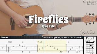 Fireflies - Owl City | Fingerstyle Guitar | TAB + Chords + Lyrics